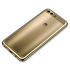 Coque Ultra Fine TPU Souple Housse Etui Transparente H02 pour Huawei P10 Or