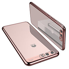 Coque Ultra Fine TPU Souple Housse Etui Transparente H02 pour Huawei P10 Or Rose