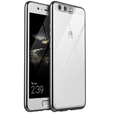 Coque Ultra Fine TPU Souple Housse Etui Transparente H02 pour Huawei P10 Plus Argent