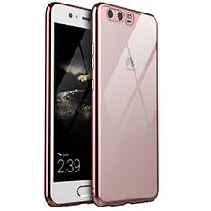Coque Ultra Fine TPU Souple Housse Etui Transparente H02 pour Huawei P10 Plus Or Rose
