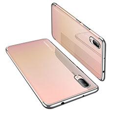 Coque Ultra Fine TPU Souple Housse Etui Transparente H02 pour Huawei P20 Argent