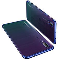 Coque Ultra Fine TPU Souple Housse Etui Transparente H02 pour Huawei P20 Bleu