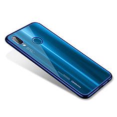 Coque Ultra Fine TPU Souple Housse Etui Transparente H02 pour Huawei P20 Lite Bleu