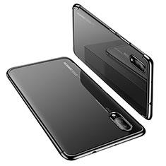 Coque Ultra Fine TPU Souple Housse Etui Transparente H02 pour Huawei P20 Noir