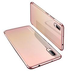 Coque Ultra Fine TPU Souple Housse Etui Transparente H02 pour Huawei P20 Or Rose