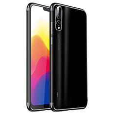 Coque Ultra Fine TPU Souple Housse Etui Transparente H02 pour Huawei P20 Pro Noir
