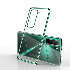 Coque Ultra Fine TPU Souple Housse Etui Transparente H02 pour Huawei P40 Lite 5G Vert