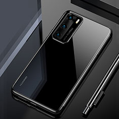 Coque Ultra Fine TPU Souple Housse Etui Transparente H02 pour Huawei P40 Noir