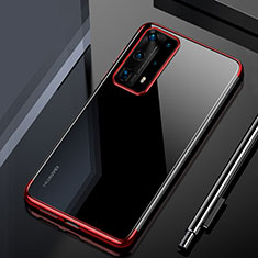 Coque Ultra Fine TPU Souple Housse Etui Transparente H02 pour Huawei P40 Pro+ Plus Rouge