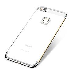 Coque Ultra Fine TPU Souple Housse Etui Transparente H02 pour Huawei P8 Lite (2017) Argent