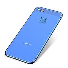 Coque Ultra Fine TPU Souple Housse Etui Transparente H02 pour Huawei P8 Lite (2017) Bleu