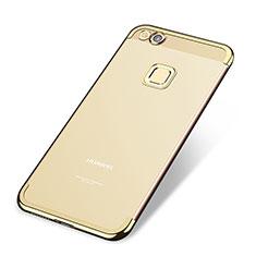 Coque Ultra Fine TPU Souple Housse Etui Transparente H02 pour Huawei P8 Lite (2017) Or