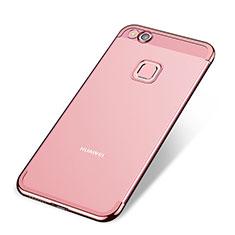 Coque Ultra Fine TPU Souple Housse Etui Transparente H02 pour Huawei P8 Lite (2017) Or Rose