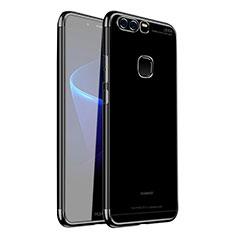 Coque Ultra Fine TPU Souple Housse Etui Transparente H02 pour Huawei P9 Noir