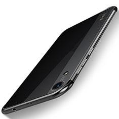 Coque Ultra Fine TPU Souple Housse Etui Transparente H02 pour Huawei Y6 (2019) Noir