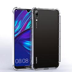 Coque Ultra Fine TPU Souple Housse Etui Transparente H02 pour Huawei Y7 (2019) Clair