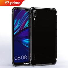 Coque Ultra Fine TPU Souple Housse Etui Transparente H02 pour Huawei Y7 Prime (2019) Noir