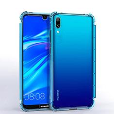 Coque Ultra Fine TPU Souple Housse Etui Transparente H02 pour Huawei Y7 Pro (2019) Bleu Ciel