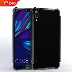 Coque Ultra Fine TPU Souple Housse Etui Transparente H02 pour Huawei Y7 Pro (2019) Noir
