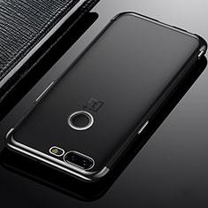 Coque Ultra Fine TPU Souple Housse Etui Transparente H02 pour OnePlus 5T A5010 Gris