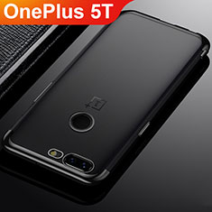 Coque Ultra Fine TPU Souple Housse Etui Transparente H02 pour OnePlus 5T A5010 Noir