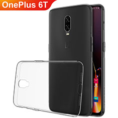 Coque Ultra Fine TPU Souple Housse Etui Transparente H02 pour OnePlus 6T Gris