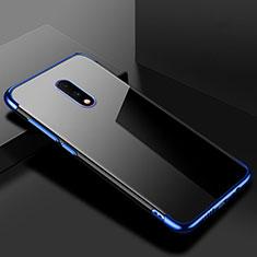 Coque Ultra Fine TPU Souple Housse Etui Transparente H02 pour OnePlus 7 Bleu