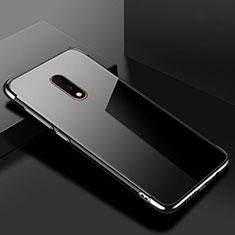 Coque Ultra Fine TPU Souple Housse Etui Transparente H02 pour OnePlus 7 Noir
