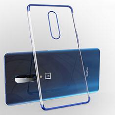 Coque Ultra Fine TPU Souple Housse Etui Transparente H02 pour OnePlus 7 Pro Bleu