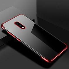 Coque Ultra Fine TPU Souple Housse Etui Transparente H02 pour OnePlus 7 Rouge