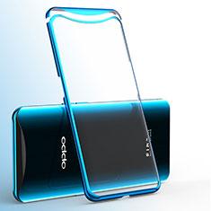 Coque Ultra Fine TPU Souple Housse Etui Transparente H02 pour Oppo Find X Bleu