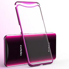 Coque Ultra Fine TPU Souple Housse Etui Transparente H02 pour Oppo Find X Rose Rouge