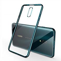Coque Ultra Fine TPU Souple Housse Etui Transparente H02 pour Oppo Realme X Vert