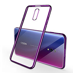 Coque Ultra Fine TPU Souple Housse Etui Transparente H02 pour Oppo Realme X Violet