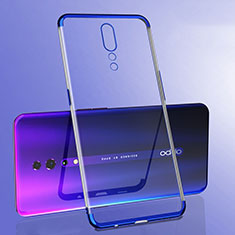 Coque Ultra Fine TPU Souple Housse Etui Transparente H02 pour Oppo Reno Z Bleu