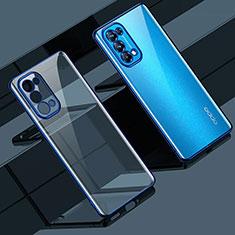 Coque Ultra Fine TPU Souple Housse Etui Transparente H02 pour Oppo Reno5 5G Bleu