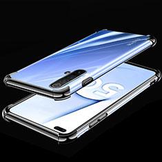 Coque Ultra Fine TPU Souple Housse Etui Transparente H02 pour Realme X50m 5G Noir