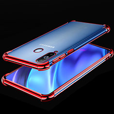 Coque Ultra Fine TPU Souple Housse Etui Transparente H02 pour Samsung Galaxy A8s SM-G8870 Rouge