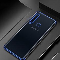 Coque Ultra Fine TPU Souple Housse Etui Transparente H02 pour Samsung Galaxy A9s Bleu