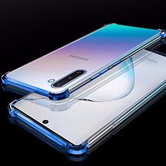 Coque Ultra Fine TPU Souple Housse Etui Transparente H02 pour Samsung Galaxy Note 10 Bleu