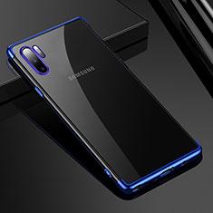 Coque Ultra Fine TPU Souple Housse Etui Transparente H02 pour Samsung Galaxy Note 10 Plus Bleu