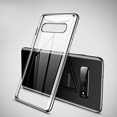 Coque Ultra Fine TPU Souple Housse Etui Transparente H02 pour Samsung Galaxy S10 Plus Noir