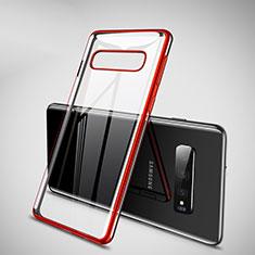 Coque Ultra Fine TPU Souple Housse Etui Transparente H02 pour Samsung Galaxy S10 Plus Rouge