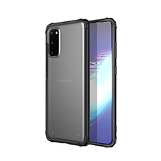Coque Ultra Fine TPU Souple Housse Etui Transparente H02 pour Samsung Galaxy S20 5G Noir