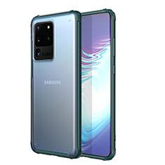 Coque Ultra Fine TPU Souple Housse Etui Transparente H02 pour Samsung Galaxy S20 Ultra 5G Vert