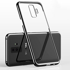 Coque Ultra Fine TPU Souple Housse Etui Transparente H02 pour Samsung Galaxy S9 Plus Noir