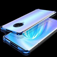 Coque Ultra Fine TPU Souple Housse Etui Transparente H02 pour Vivo Nex 3 Bleu