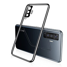 Coque Ultra Fine TPU Souple Housse Etui Transparente H02 pour Vivo X50 5G Noir