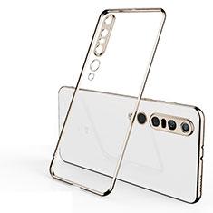Coque Ultra Fine TPU Souple Housse Etui Transparente H02 pour Xiaomi Mi 10 Pro Or