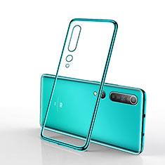 Coque Ultra Fine TPU Souple Housse Etui Transparente H02 pour Xiaomi Mi 10 Vert